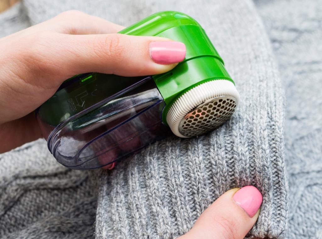 Pilling on sweater freezer clothing hacks