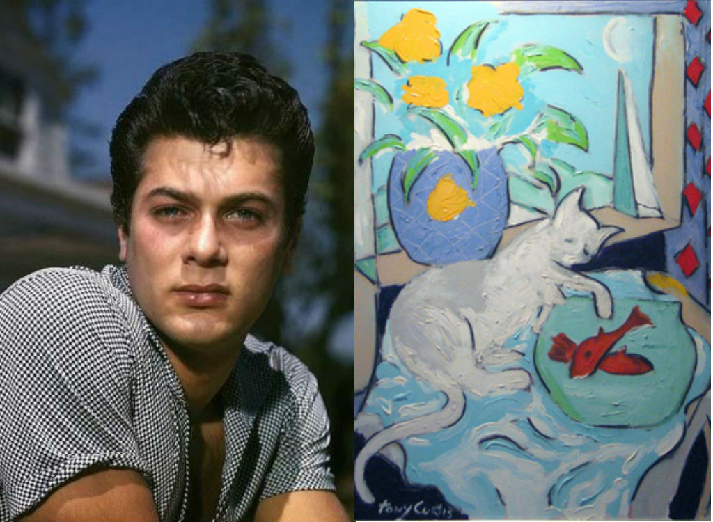 Tony Curtis painting