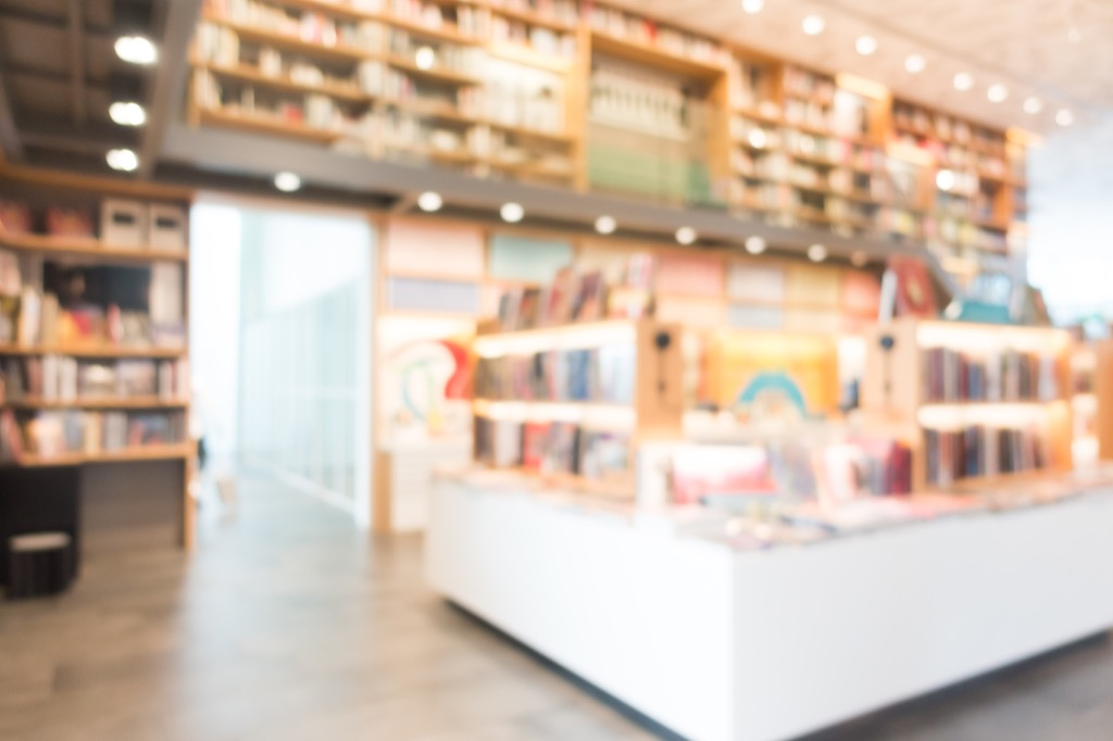 bookstore featuring best-selling novels