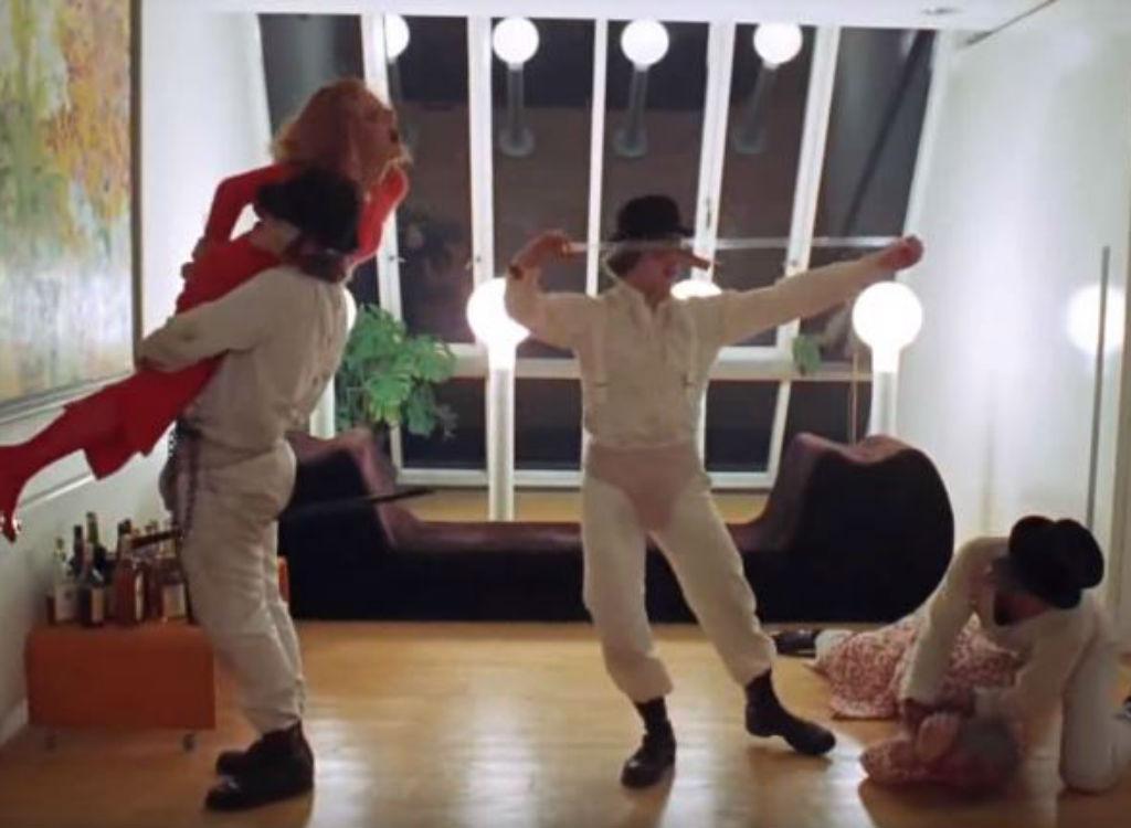 Clockwork Orange improvised movie lines