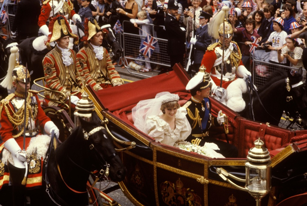 Princess Diana and Prince Charles Royal Marriages wedding differences