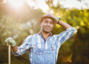 Young man farming clean jokes