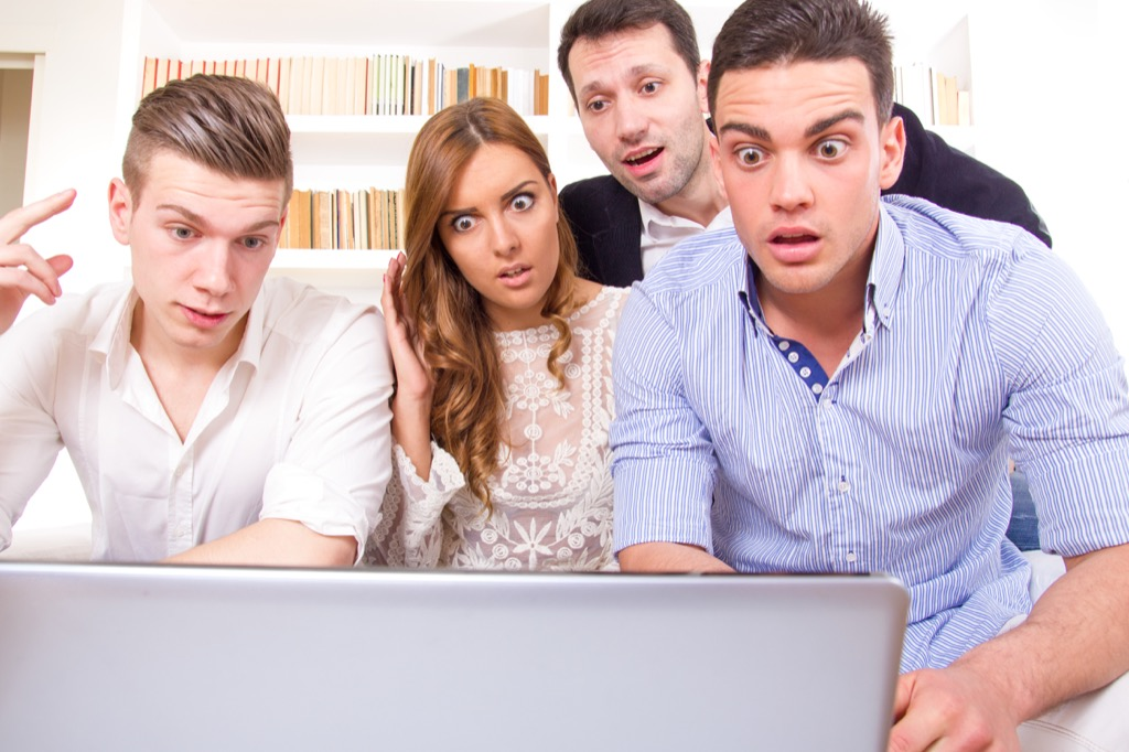 group of friends shocked surprised