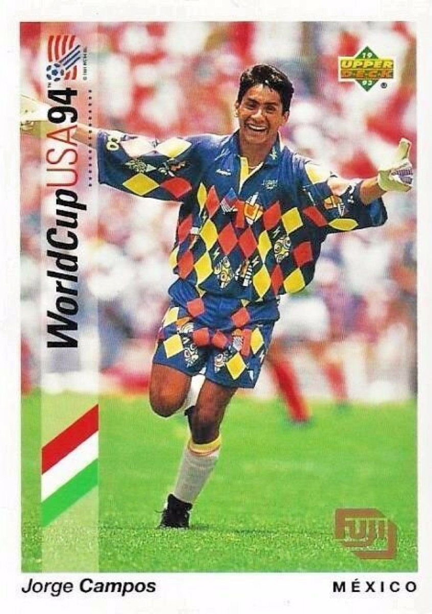jorge campos 1994 world cup trading card