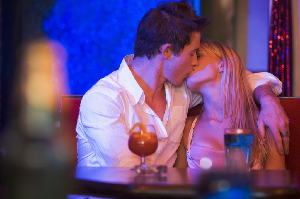 kiss in bar