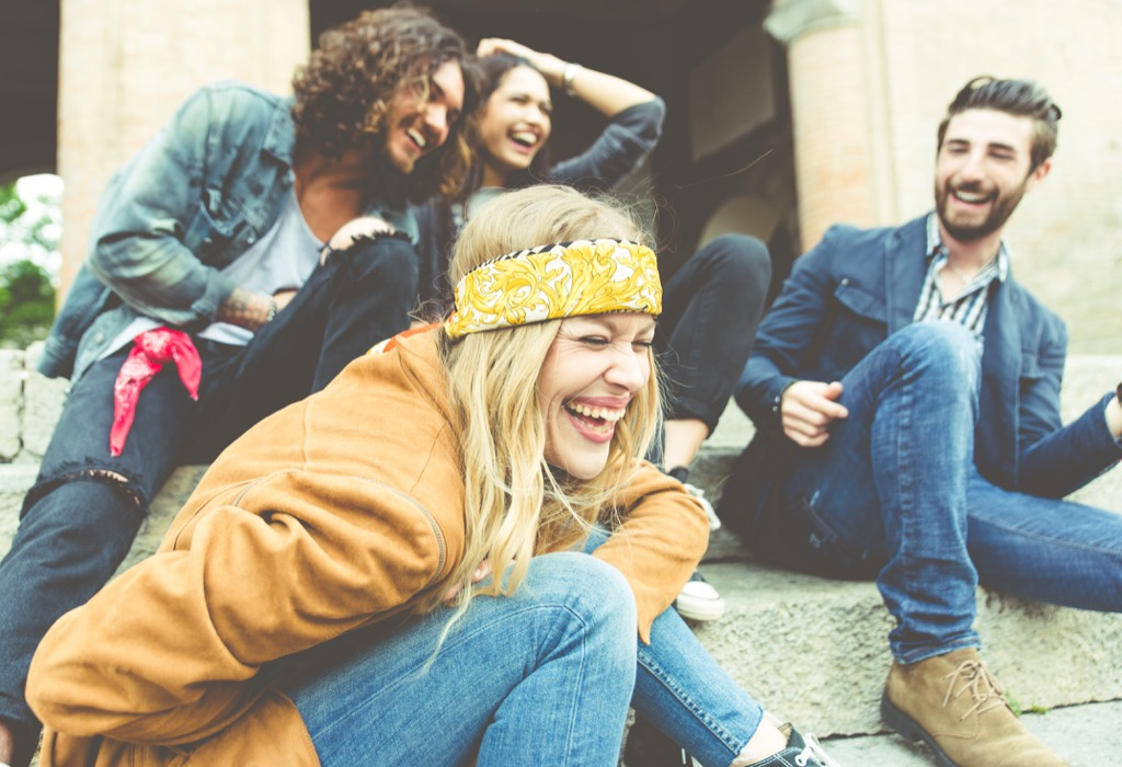 friends laughing crazy health benefits of laughter