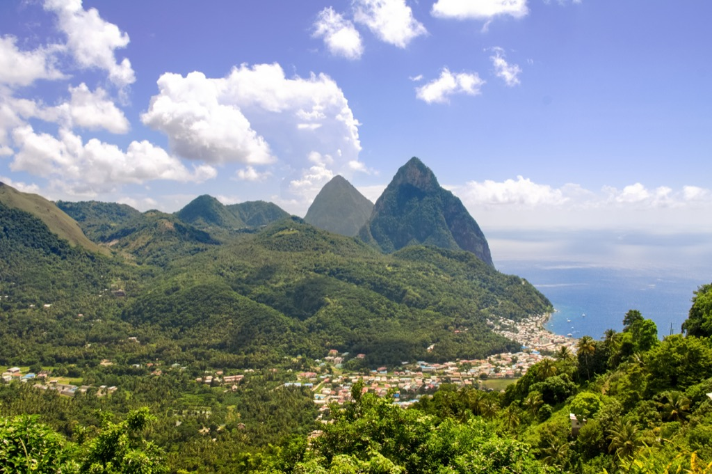 saint lucia st. lucia travel countries without clean water