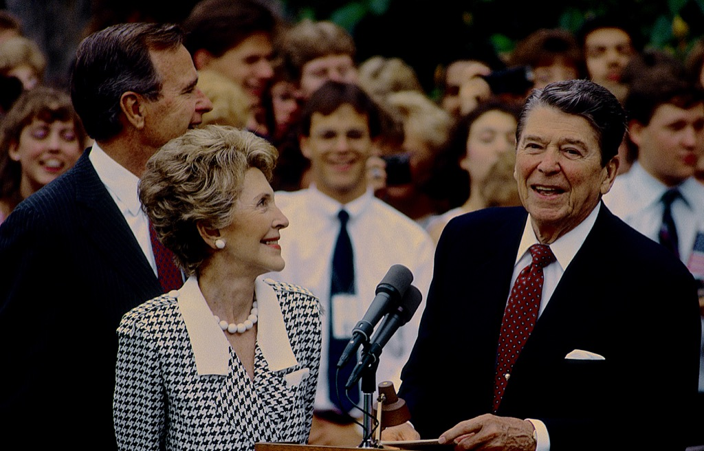 Regan and his wife Craziest U.S. Presidents IMAGE IS FROMS SHUTTERSHOCK