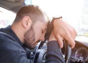 Man falling asleep while driving lies over 40