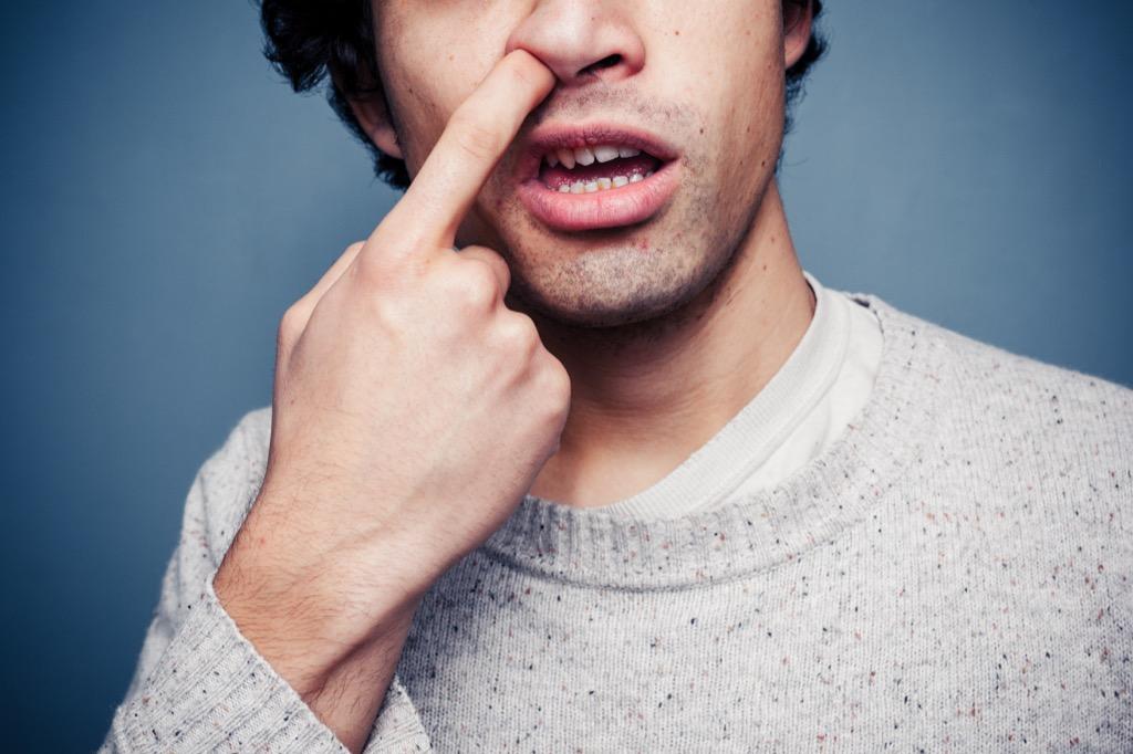 man picking nose Embarrassing Things