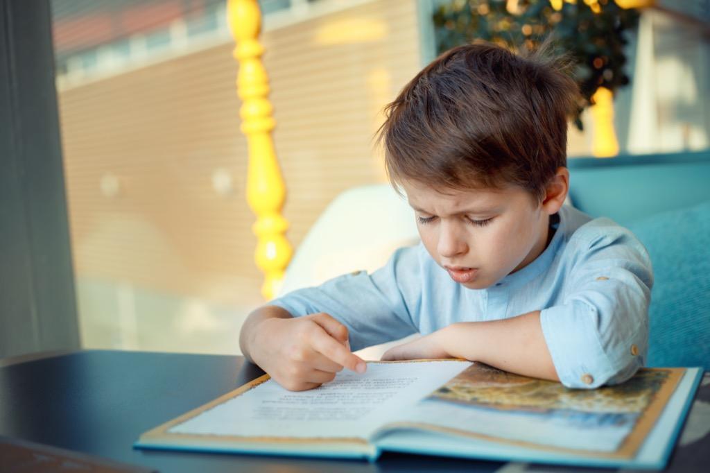 boy struggling Never Say to a Teacher, hard math problems