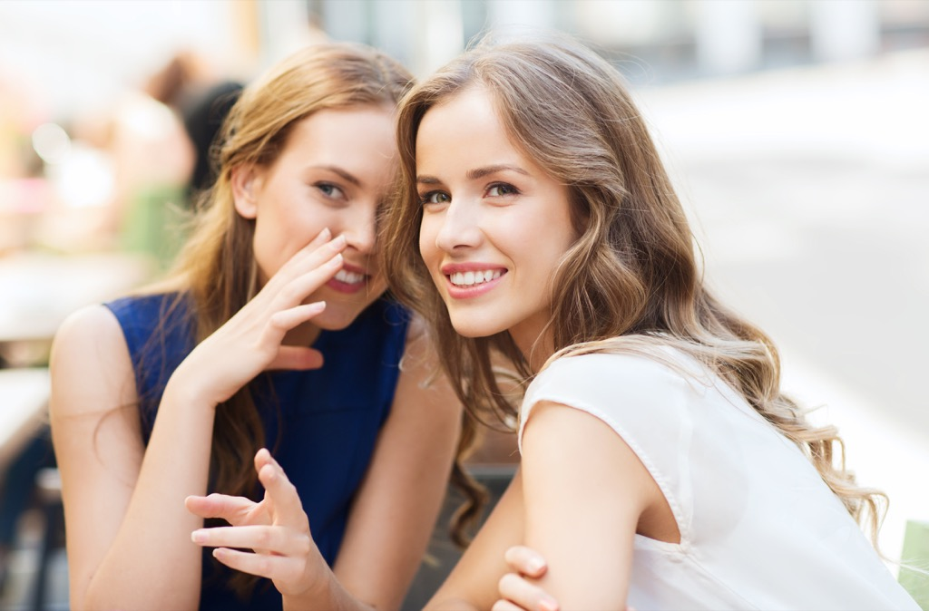 girls gossiping Embarrassing Things