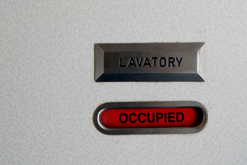 Lavatory with occupied sign