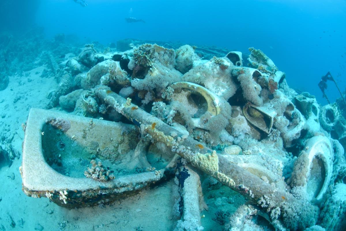 Artifacts on ocean floor
