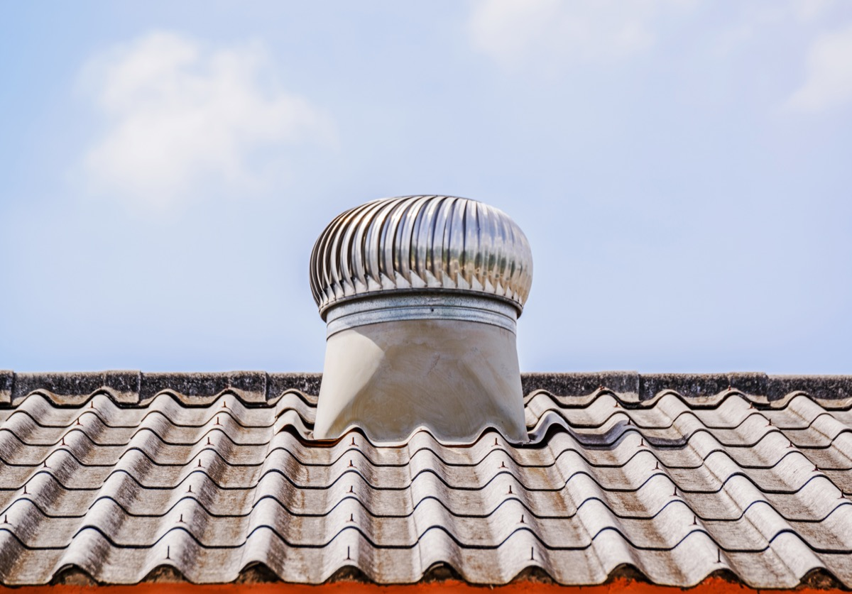 attic ventilator on roof keep your bedroom cool