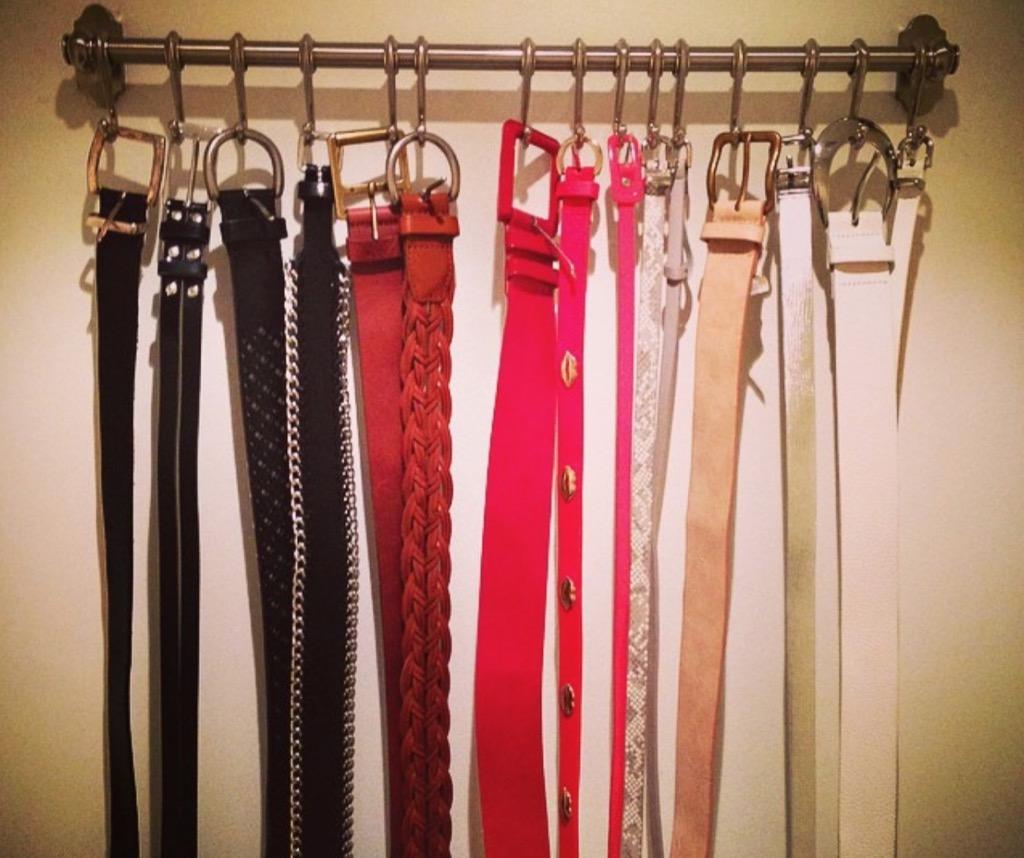 belt rack storage hacks