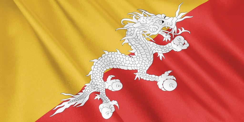 Bhutan flag druk
