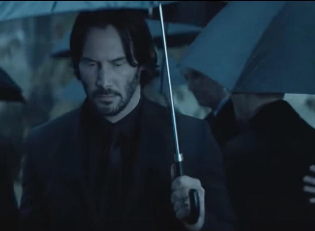 black umbrella movie cliches