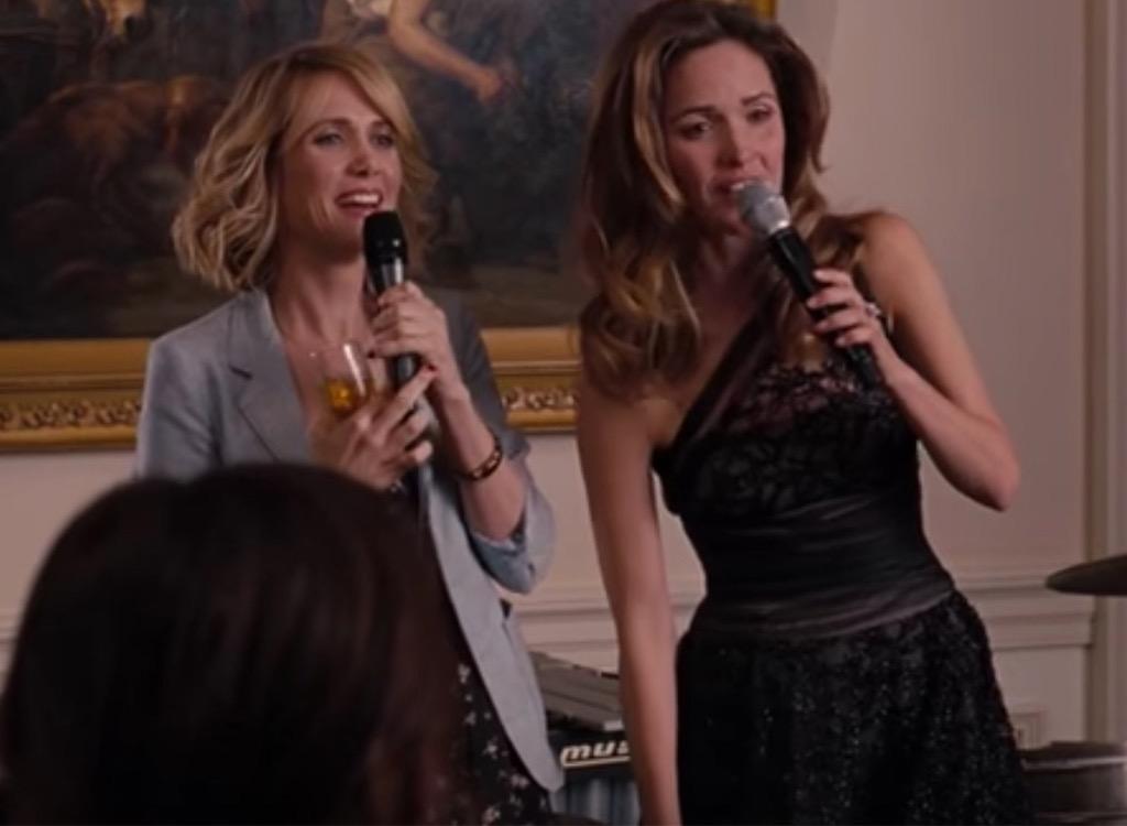 bridesmaids engagement party scene