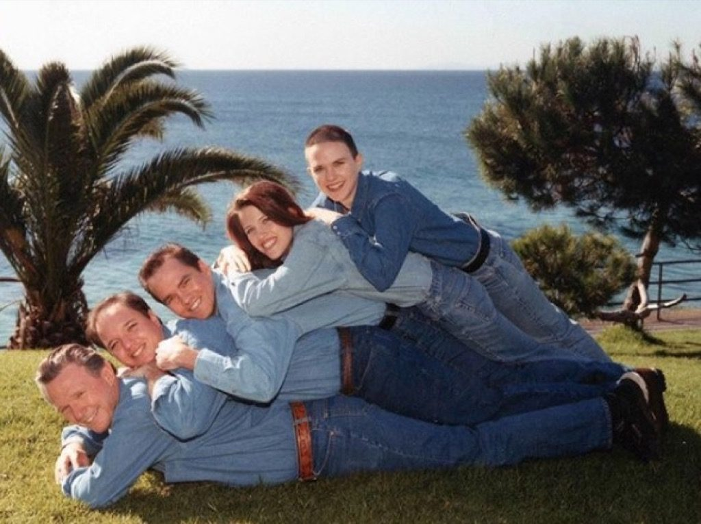 Canadian suits, awkward family photo