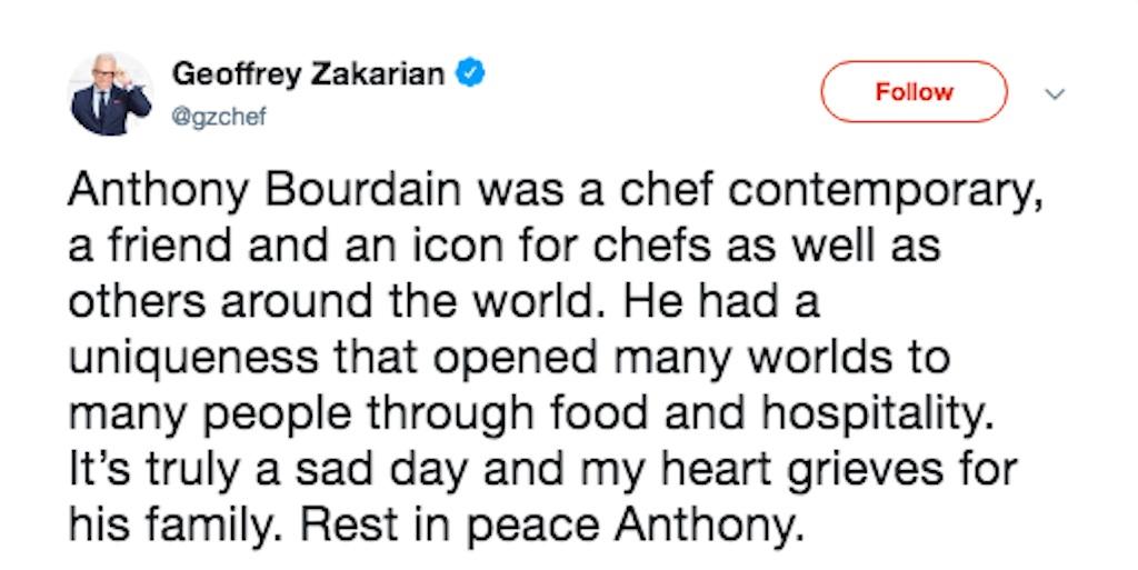 geoffrey zakharian tribute to anthony bourdain