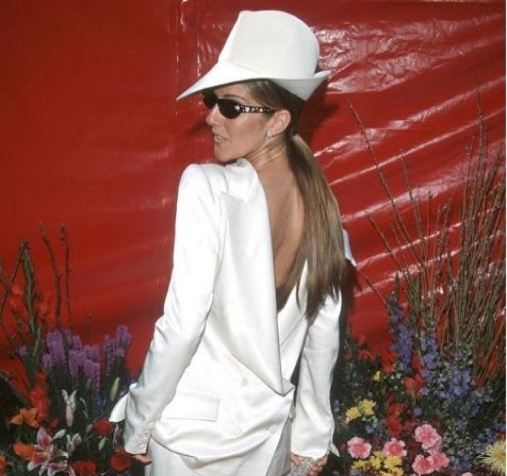 Celine Dion red carpet fashion fails