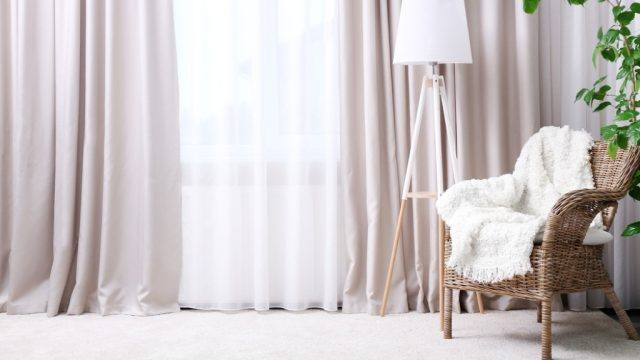 light drapes small space decorating tips