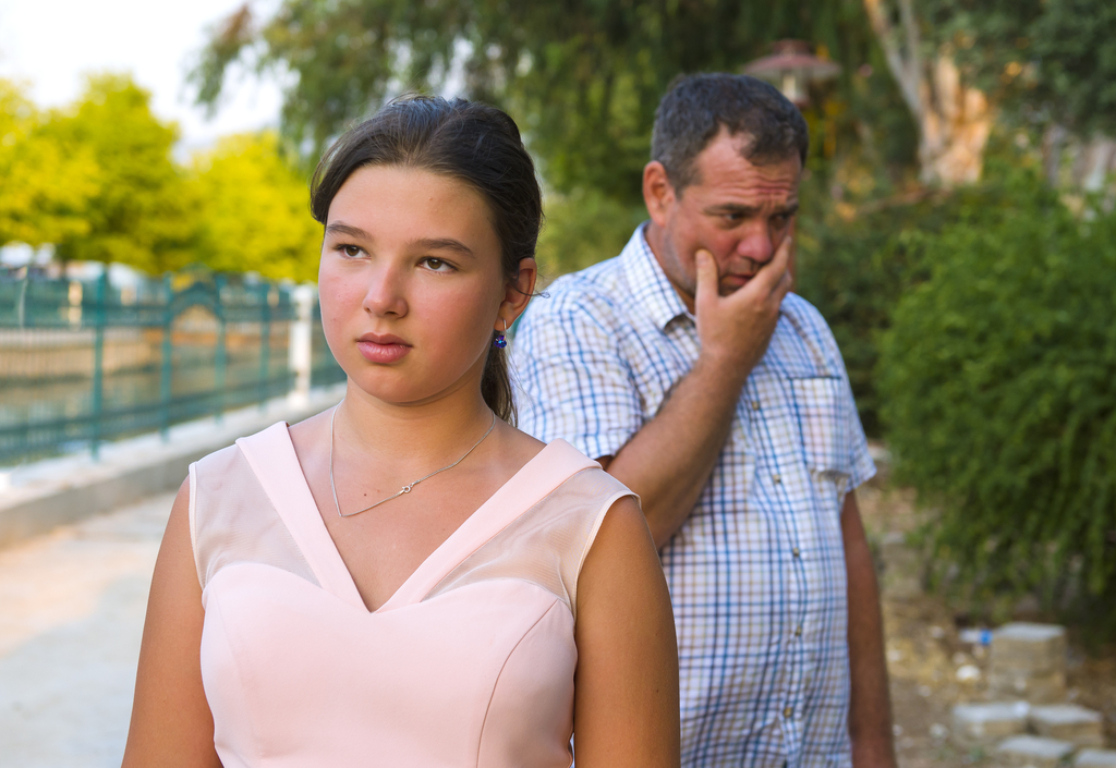 Dad and Daughter Arguing
