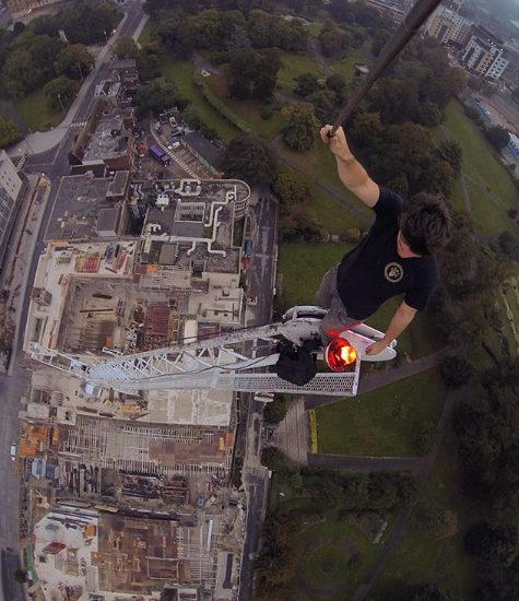 Dangerous Selfie At Top of Crane Selfies