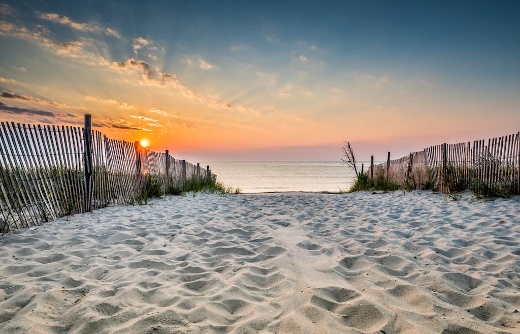 dewey beach, delaware at sunrise