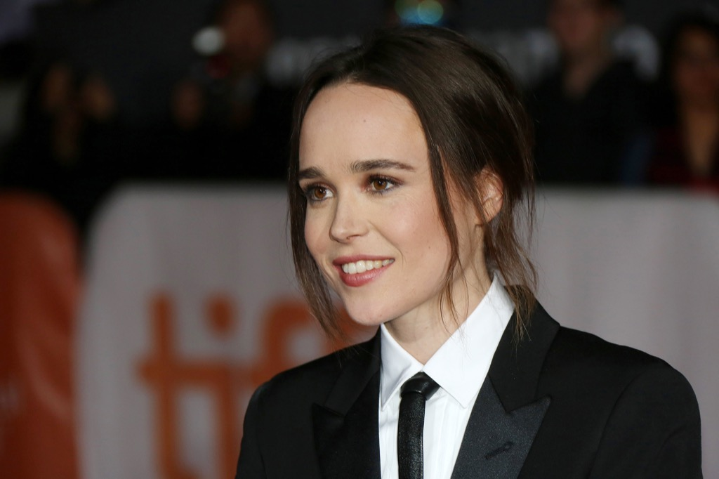 vegan celebrities - Actress Ellen Page attends the 'Freeheld' premiere during the 2015 Toronto International Film Festival at Roy Thomson Hall on September 13, 2015 in Toronto, Canada. - Image