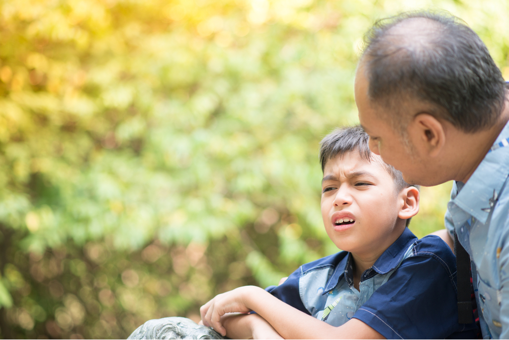 Dad and Son Arguing Worst Things to Say to Kids