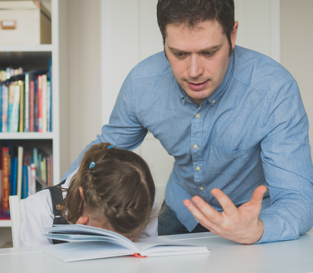Father fighting with Daughter Worst Things to Say to Kids