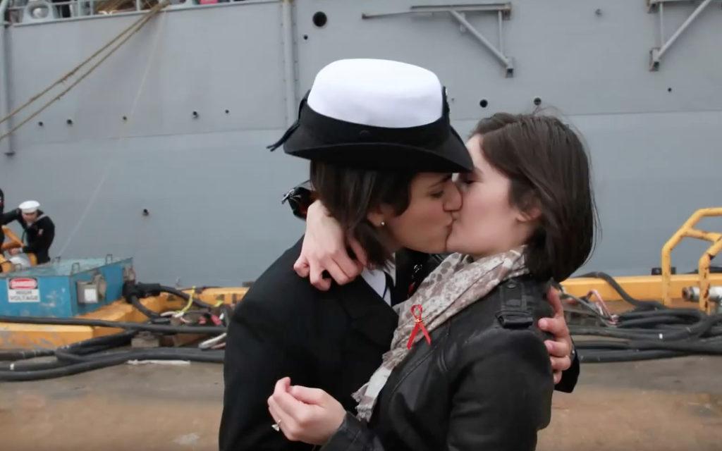 First Same Sex Navy Homecoming Kiss