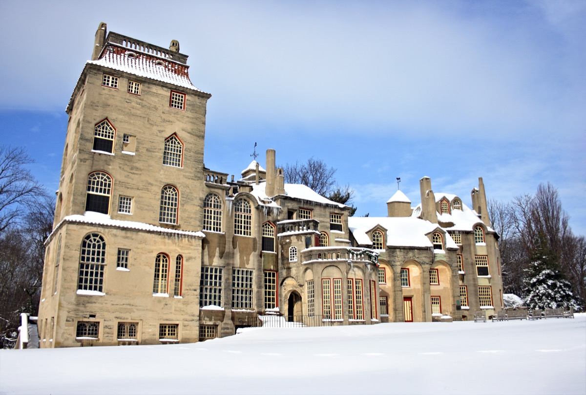 fonthill castle after heavy snow