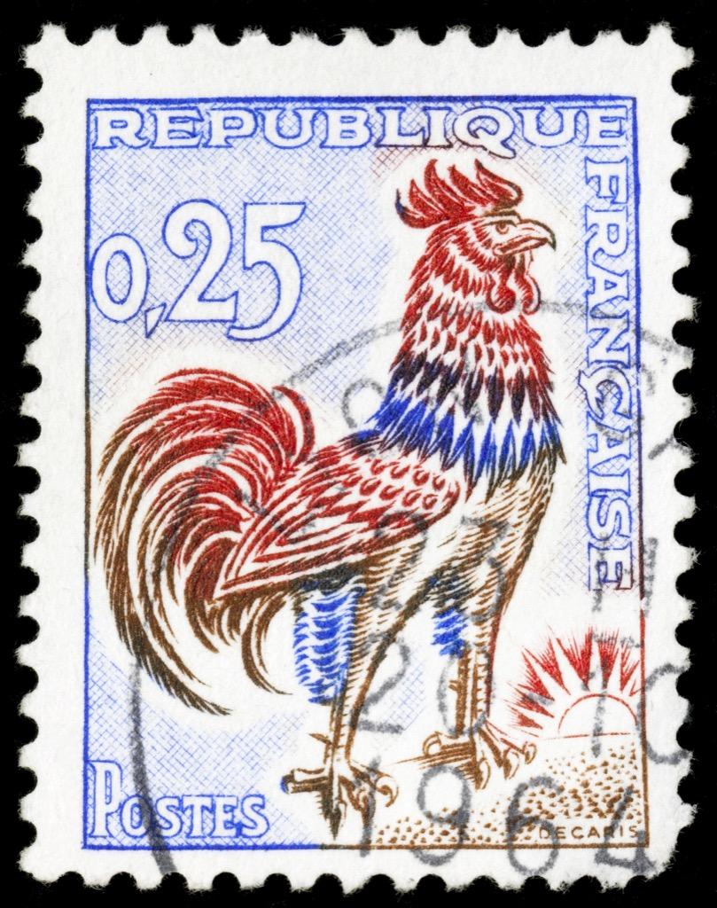 France Rooster stamp