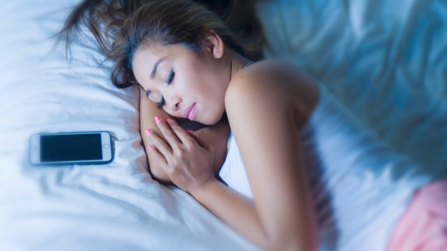 Girl Sleeping Next to Phone Social Media