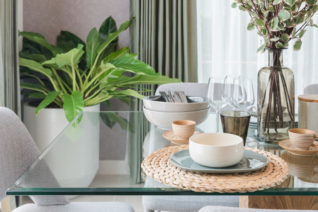 clear furniture small space decorating tips