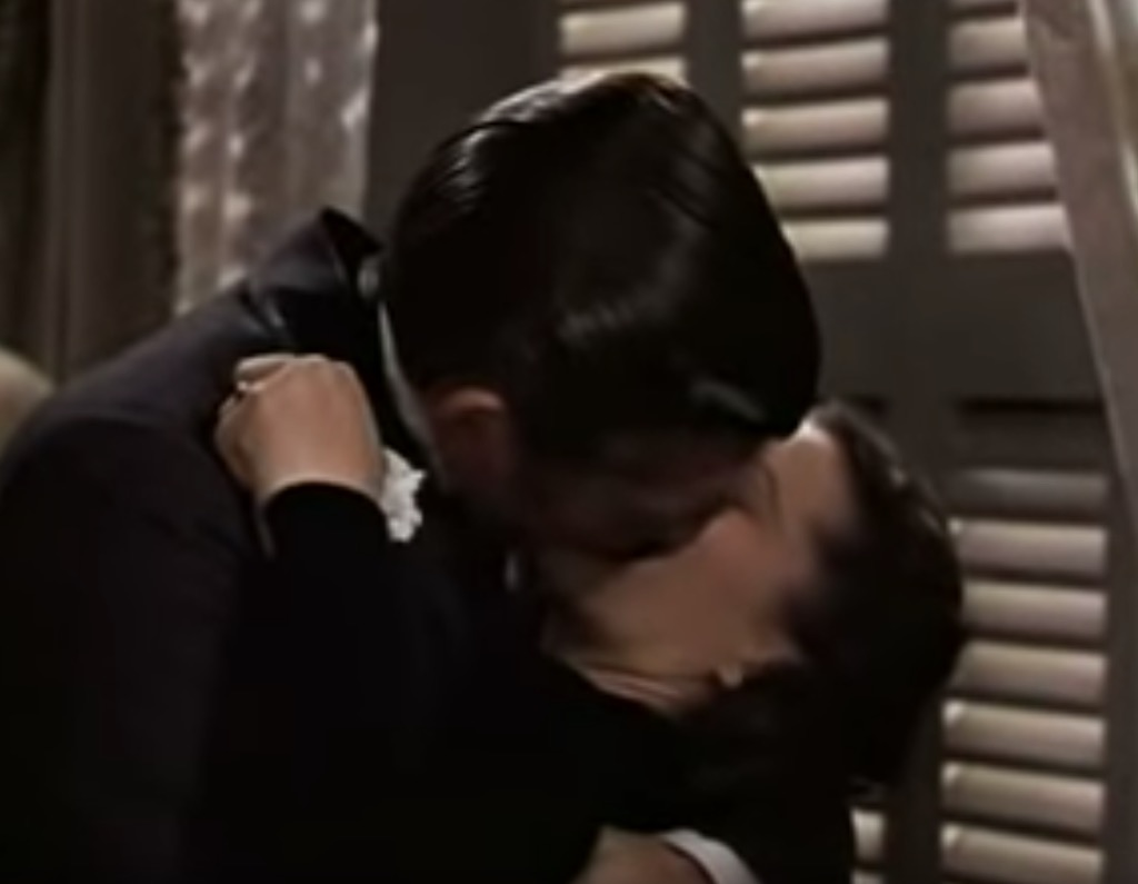 gone with wind kiss