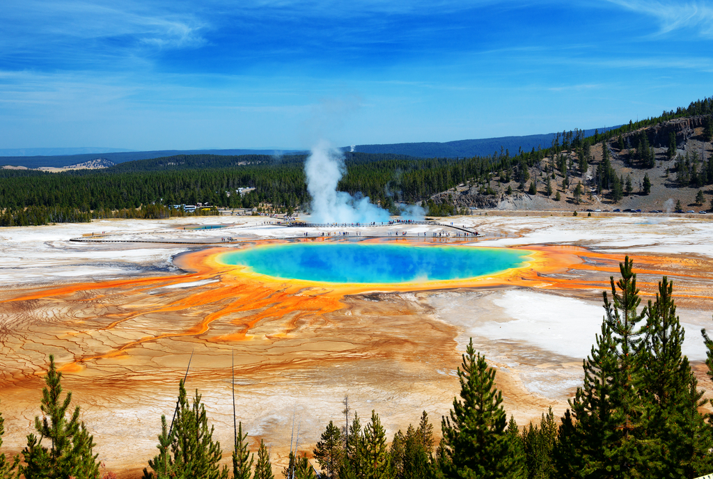 Grand Prismatic Spring Wyoming natural wonders in america