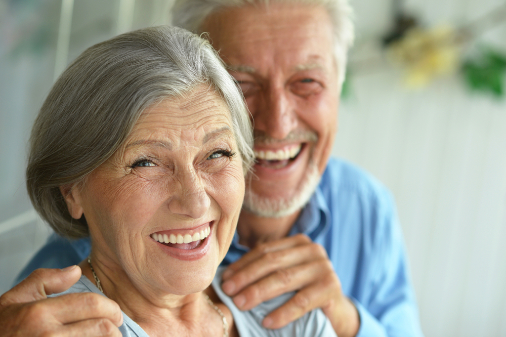 older couple being affectionate, better wife over 40