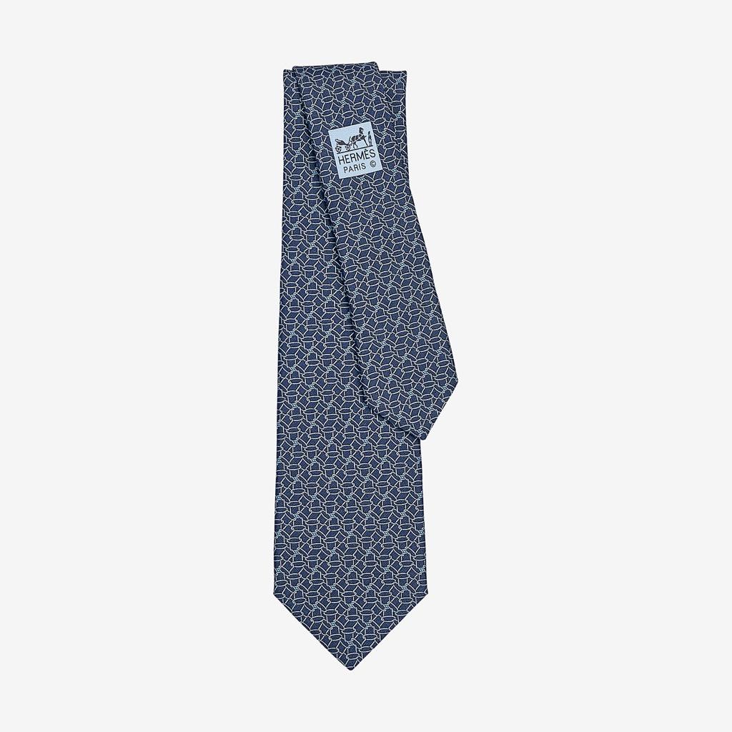 hermes patterned tie