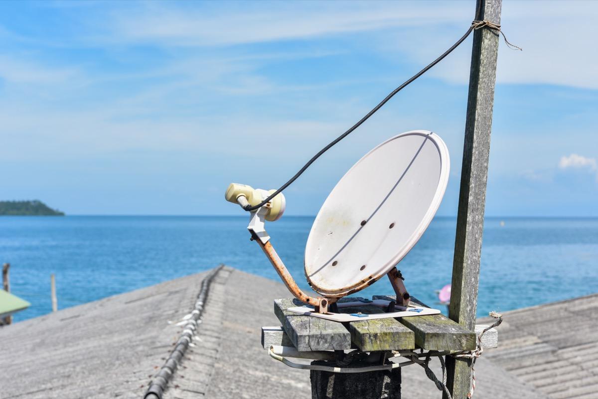 Internet cables near ocean
