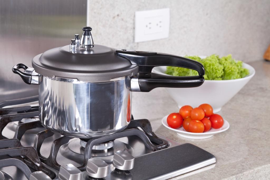 kitchen, stove, pressure cooker