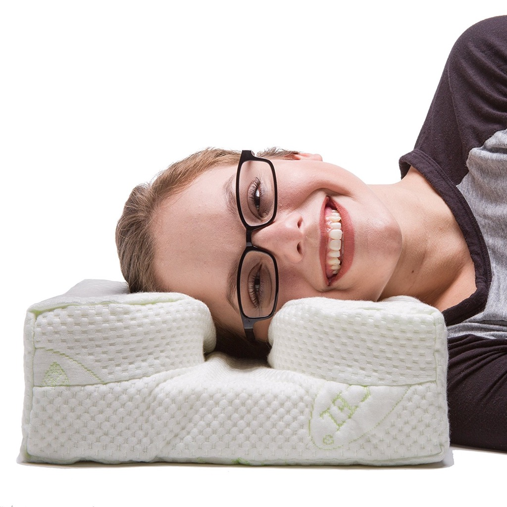 Laysee pillow for people with glasses