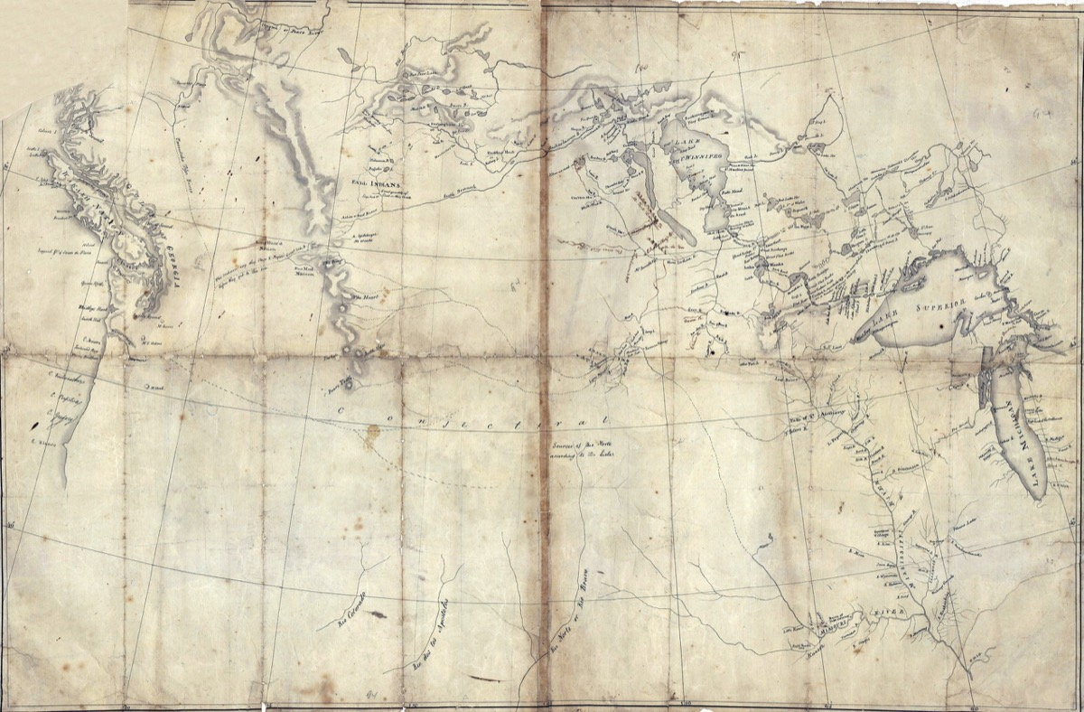 lewis and clark old map of america, army facts
