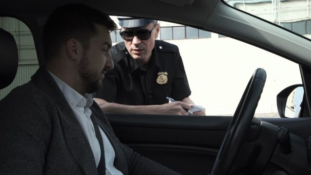 man pulled over by police