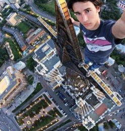 Man On Top of Building Selfies