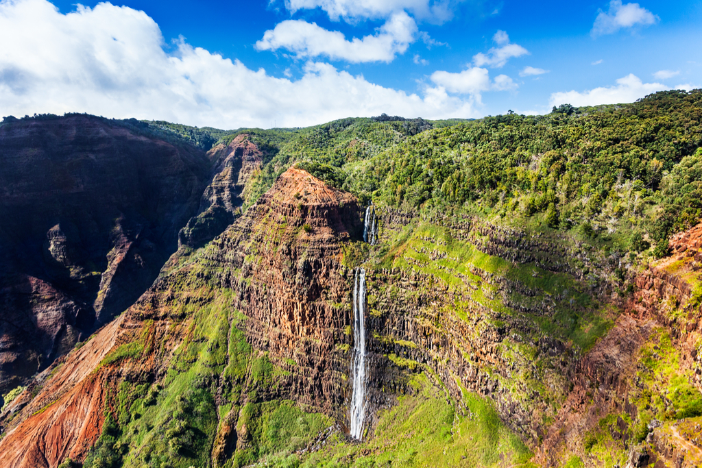 Manawaiopuna Falls Hawaii Waterfalls