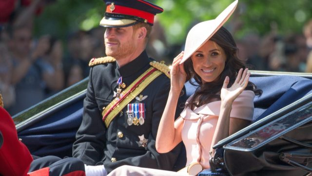 Meghan trooping the colour